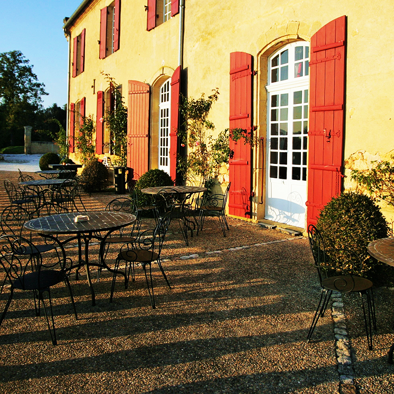 Terrace in front of the chateau
