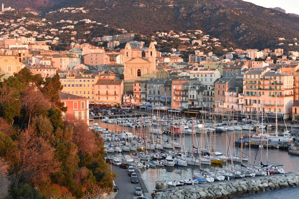 Evening view of Bastia
