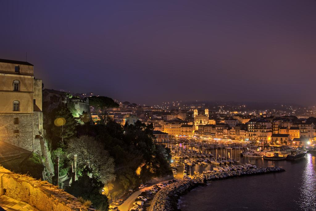 Night time view to Bastia