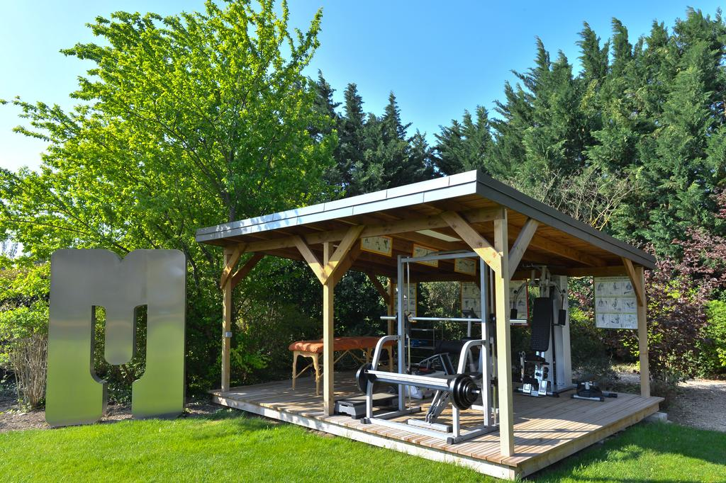 Fitness room in the garden