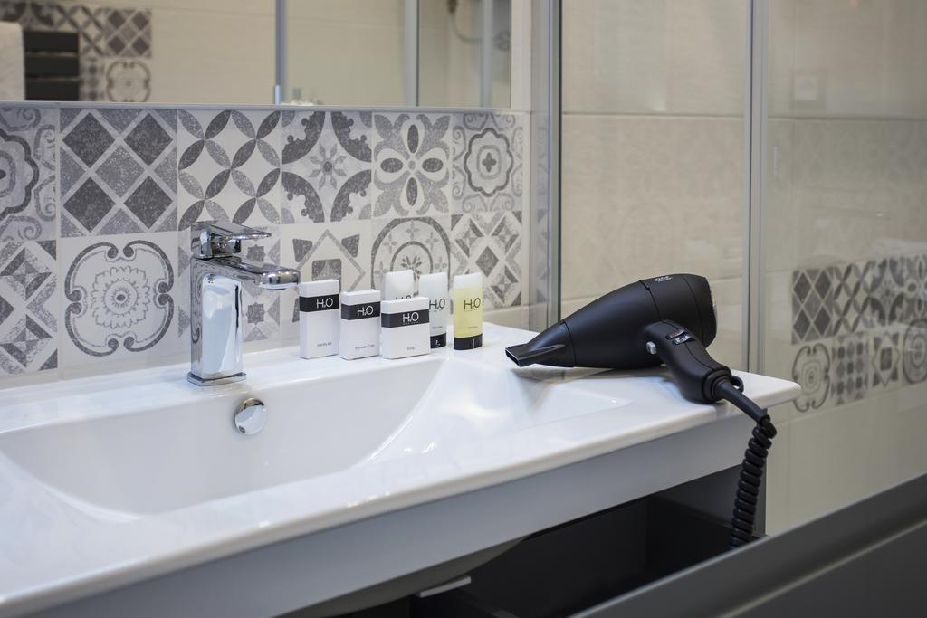 Hair dryer and toiletries