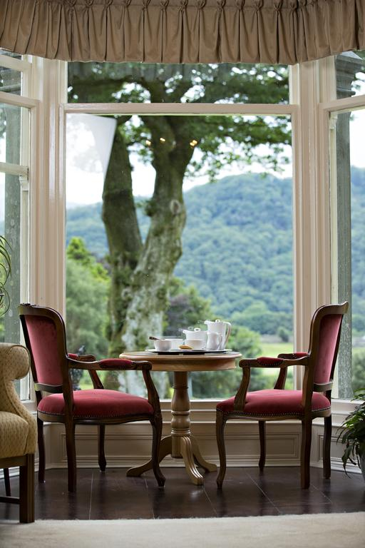 View of the garden, Lake District hotel