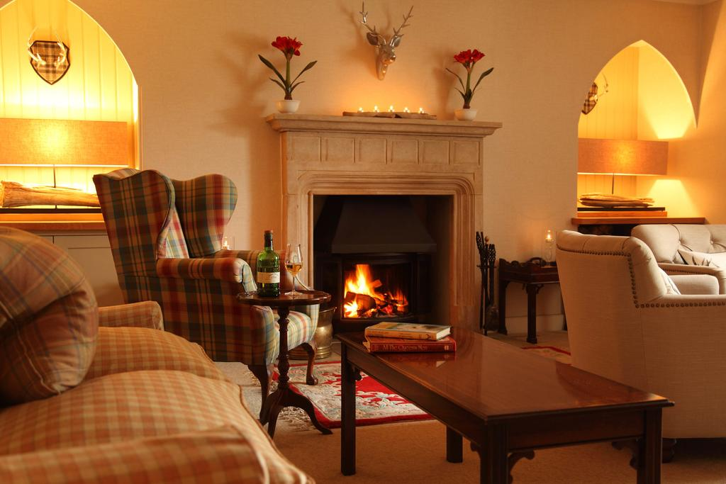 Hotel lounge, Highlands of Scotland
