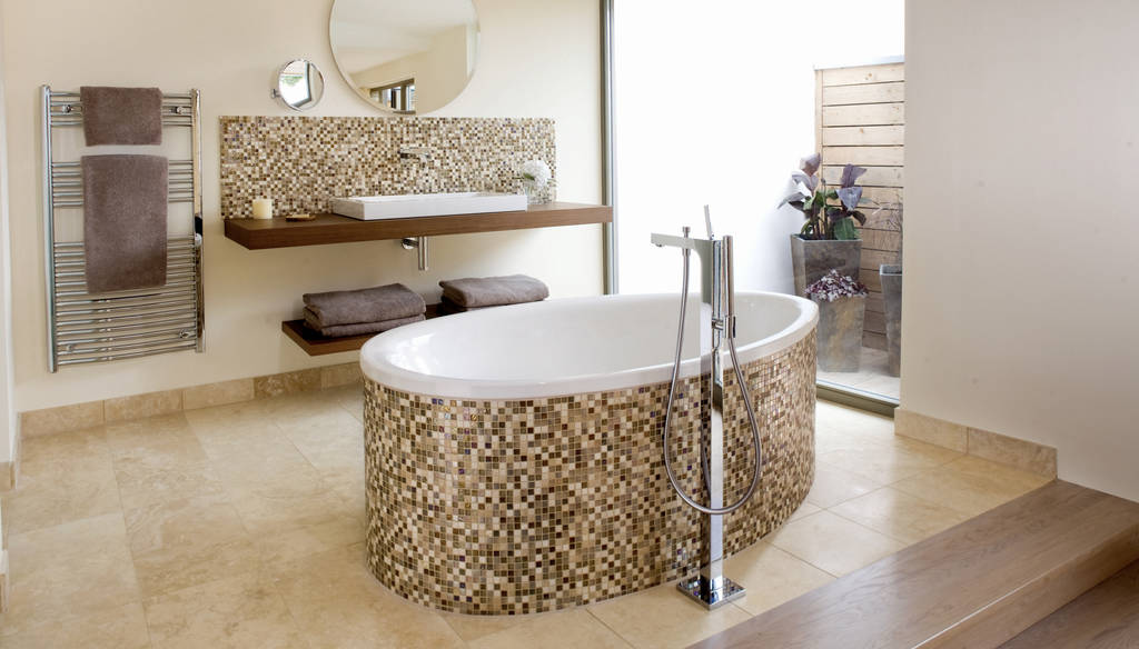 Luxury bathroom, hotel, Cornwall